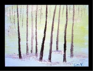 Detail Image for art TREES IN SNOW-SOLD