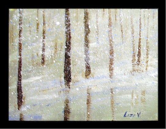 Art: SNOWY FOREST-sold by Artist LUIZA VIZOLI