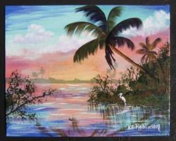 Art: FLORIDA WETLANDS LANDSCAPE - SOLD by Artist Ke Robinson