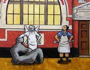 Detail Image for art Henry Moore  Sculpture Studios