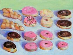 Art: Donuts by Artist Susan Frank