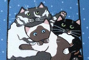 Detail Image for art Tracey's cat pile ~ view from above