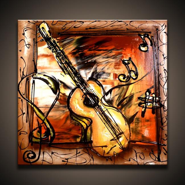 Art: Acoustic Guitar by Artist Peter D.