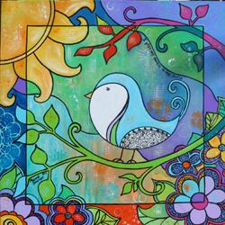 Art: I Play My Music in the Sun by Artist Melanie Douthit