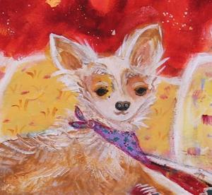 Detail Image for art christmas chihuahua