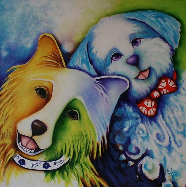 Art: Tave and Zeke by Artist Deb Harvey
