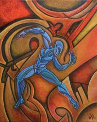 Art: Danseur Bleu by Artist Roy Guzman