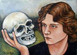 Art: Where Be Your Gibes Now?: Hamlet Tribute by Artist Patience
