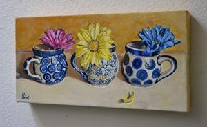 Detail Image for art Colored Daisies: Polish Pottery LXXXVII