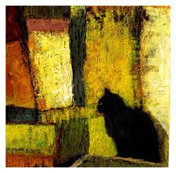 Art: The Black Cat by Artist Milena Gawlik