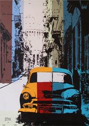 Art: Old Car In The Street by Artist Milena Gawlik