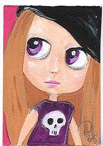 Art: Blythe Grlz Bone Grl by Artist Noelle Hunt