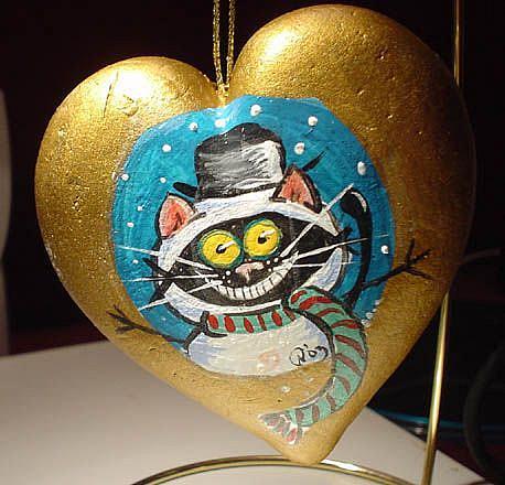 Art: Kitt Katt- frosty the snow cat by Artist Noelle Hunt
