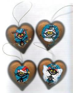 Detail Image for art Kitt Katt- frosty the snow cat