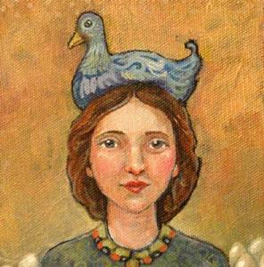 Detail Image for art Blue Cluck Hat