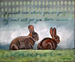 Art: Any Road Will Get You There by Artist Catherine Darling Hostetter