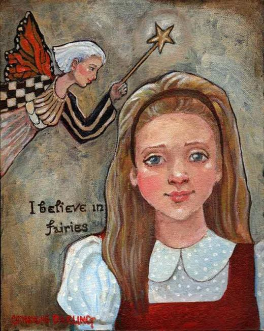 Art: I believe in Fairies by Artist Catherine Darling Hostetter