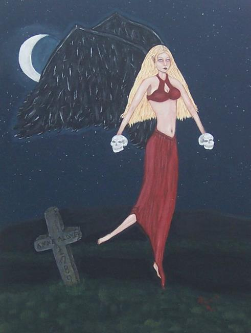 Art: Anne Alone by Artist Sandi Gayle Stefkovich