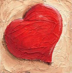 Art: An Antique Heart by Artist Noelle Hunt