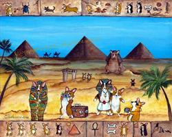 Art: Walk Like An Egyptian by Artist Cathy Santarsiero