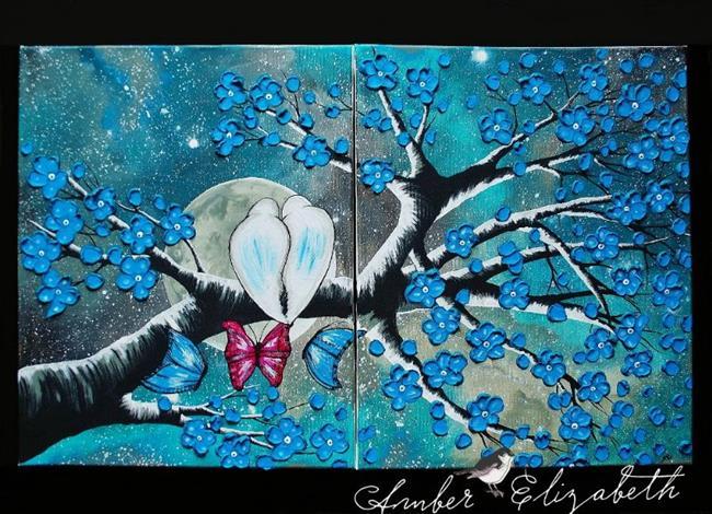 Art: The Stargazers (sold) by Artist Amber Elizabeth Lamoreaux