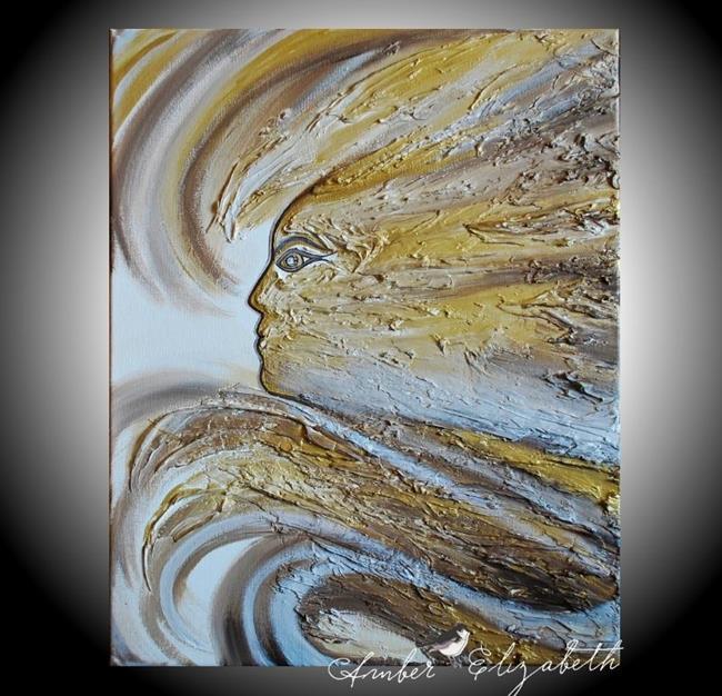 Art: The Wind Spirit (sold) by Artist Amber Elizabeth Lamoreaux