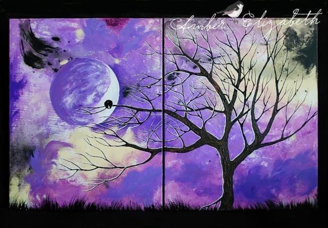 Art: Lavender Serenity (sold) by Artist Amber Elizabeth Lamoreaux
