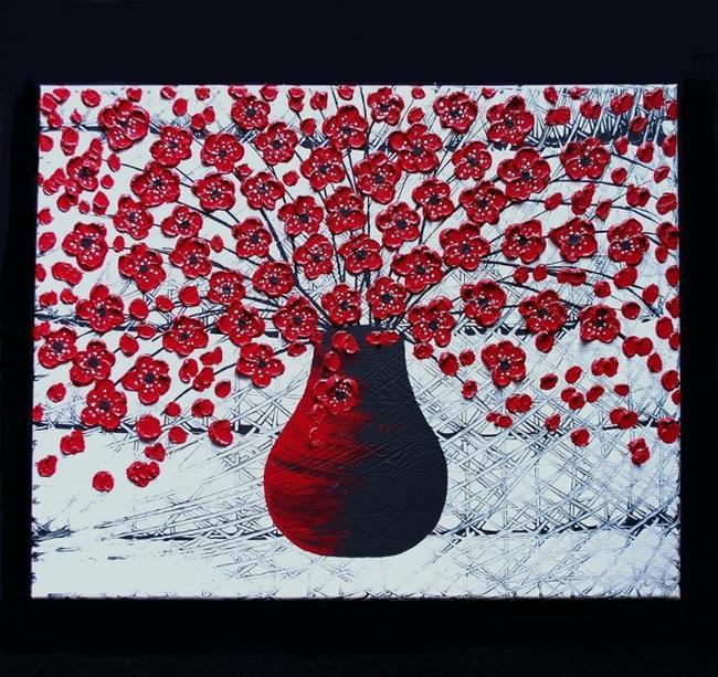 Art: Red Bouquet (sold) by Artist Amber Elizabeth Lamoreaux