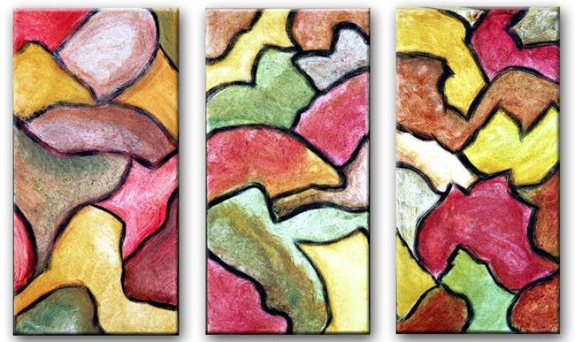 Art: Autumn Leaves (Triptych) by Artist Diane G. Casey