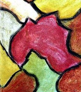 Detail Image for art Autumn Leaves (Triptych)