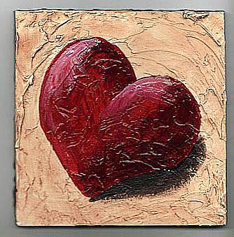 Art: Vintage Heart by Artist Noelle Hunt