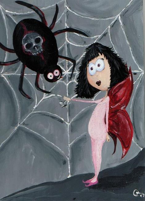 Art: Spider fairy by Artist Noelle Hunt