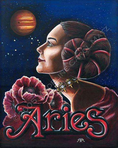 Art: Aries by Artist Madeline  Carol Matz