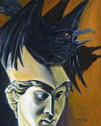 Art: Raven by Artist Madeline  Carol Matz