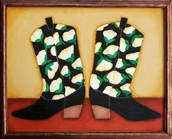 Art: Real Girls Wear Cowboy Boots by Artist April