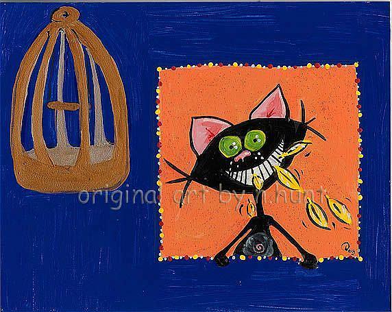 Art: Kitt Katt_-'Canary? What Canary?' by Artist Noelle Hunt
