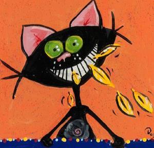 Detail Image for art Kitt Katt_-'Canary? What Canary?'