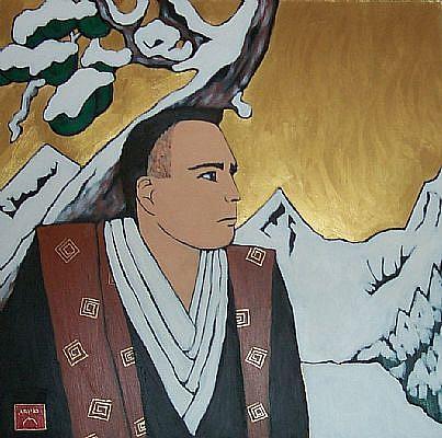 Art: Portrait of John Myers (Samurai) by Artist Amie R Gillingham