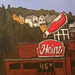 Art: Heinz Plant from 16th Street Bridge, Pittsburgh PA by Artist Amie R Gillingham