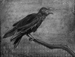 Art: The Crow Doth Sweetly Sing by Artist Catherine Darling Hostetter