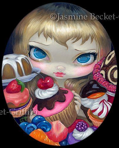Art: Tea Party Treats ORIGINAL by Artist Jasmine Ann Becket-Griffith