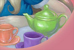 Detail Image for art Alice's Tea Party ORIGINAL PAINTING