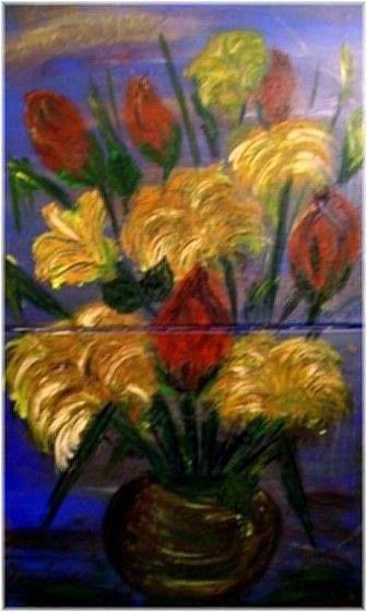 Art: AUTUMNS FLOWERS-sold by Artist LUIZA VIZOLI