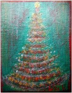 Detail Image for art LITTLE CHRISTMAS TREE-sold