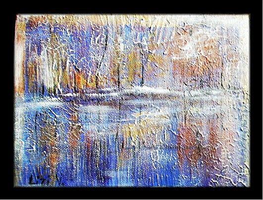 Art: LAKE IN WINTER-sold by Artist LUIZA VIZOLI