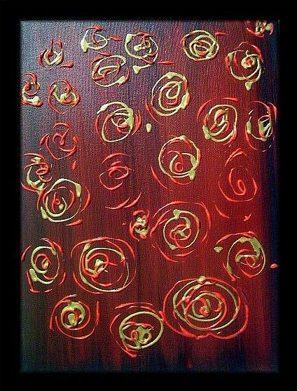 Art: ROSES-sold by Artist LUIZA VIZOLI