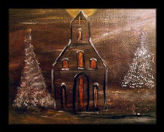 Art: IN THE HOLLY NIGHT by Artist LUIZA VIZOLI