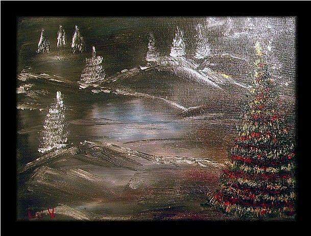 Art: IN THE CHRISTMAS EVE by Artist LUIZA VIZOLI