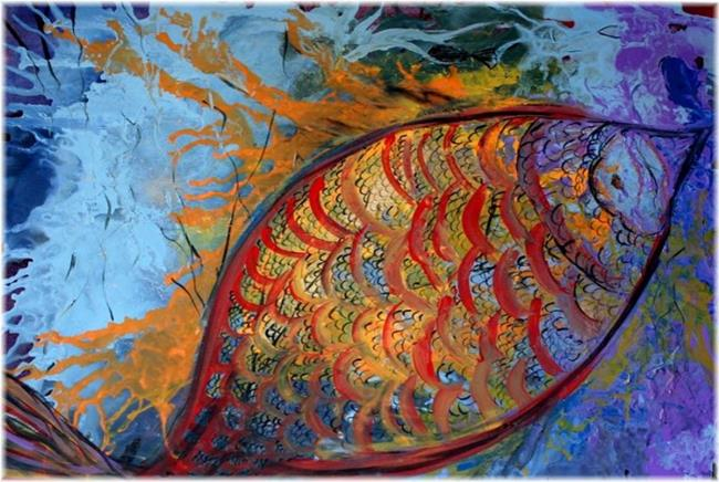 Art: CORAL'S FISH  UNDER WATER by Artist LUIZA VIZOLI