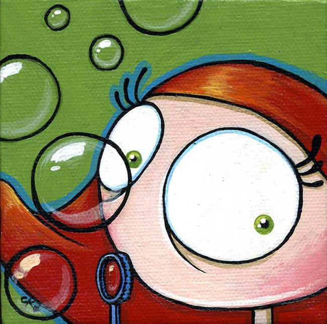 Art: Blowing Bubbles by Artist Cary Dunlap Daly